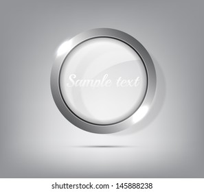 Vector metallic ring with shiny lights. Banner or button design