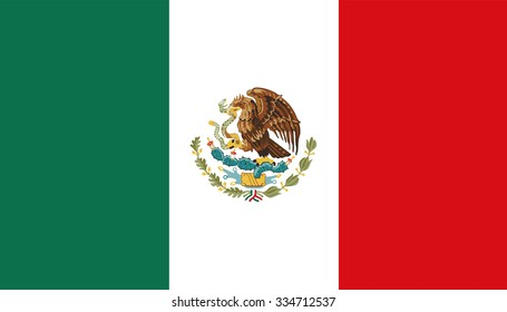 Vector of Mexico flag