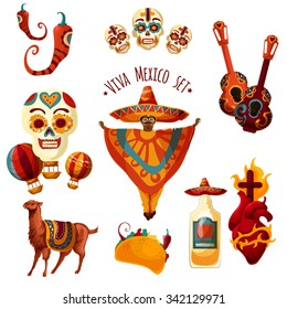 Vector Mexico set