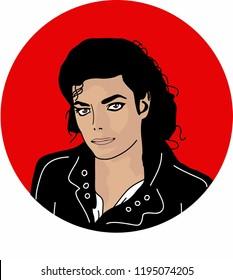 Vector Michael Jackson illustration Background Wallpaper