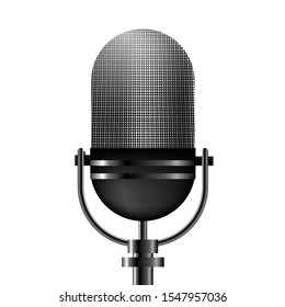 Vector microphone on a white background.