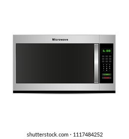 vector microwave oven, microwave front view.