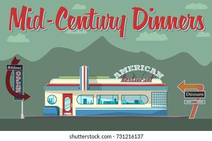 Vector Mid-Century Restaurant