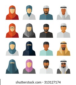 Vector Middle Eastern People Icons