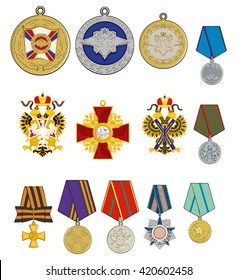 vector military medals and orders