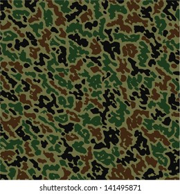vector military summer camouflage pattern