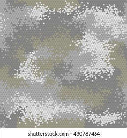 Vector military triangle camo seamless pattern. Vector illustration can be used for wallpaper, pattern fills, web page background, print on fabric or wrapping paper. Dingy green color combination