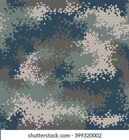 Vector military triangle camouflage seamless pattern. Vector illustration can be used for wallpaper, pattern fills, web page background, print on fabric or wrapping paper. Navy color combination