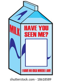 vector milk carton with space for your picture