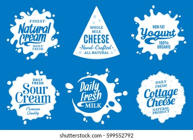 Vector milk product logo