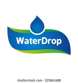 Vector Mineral Bottled Spring water logo label template
