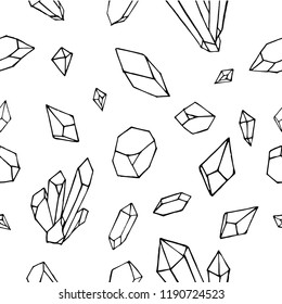 Vector of mineral crystal stone Seamless Pattern