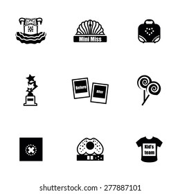 Vector Mini Miss icon set on white background