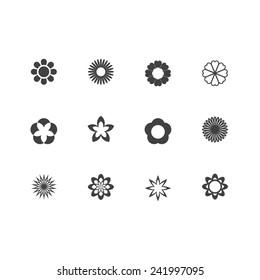 Vector Minimal Flower Icons