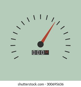 Vector minimal illustration of speedometer gauges