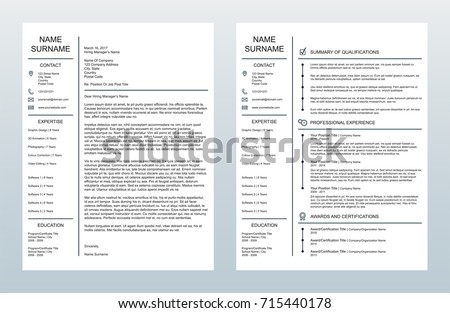vector minimalist creative cover letter one stock vector royalty