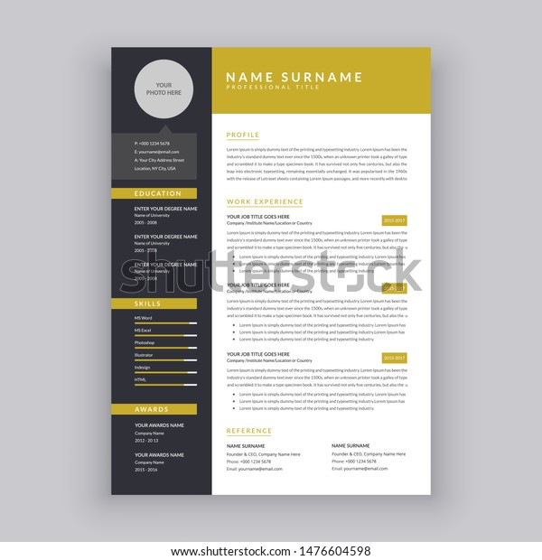 One Page Resume from image.shutterstock.com