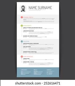 Vector minimalist cv / resume template