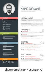 Cv Template Images Stock Photos Amp Vectors Shutterstock