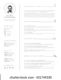 Resume Template Images Stock Photos Vectors Shutterstock - Cv-or-resume-template