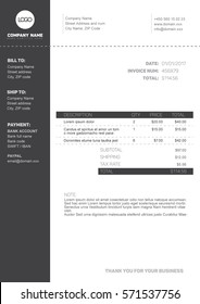 invoice template images stock photos vectors 10 off shutterstock