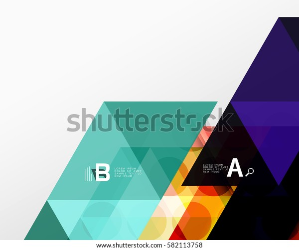 Vector minimalistic triangle design with options