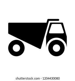 vector mining truck illustration - heavy car vehicle, industrial automobile
