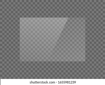 Vector mirror reflection effect texture for glass, plastic or acrylic window. png rectangle shape 3 x 2 glossy, shine, light, glare, clear plate
