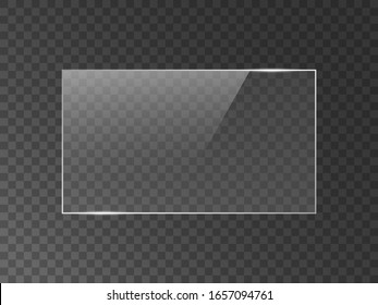 Vector mirror reflection effect texture for glass, plastic or acrylic window. png rectangle shape 16 x 9 glossy, shine, light, glare, clear plate