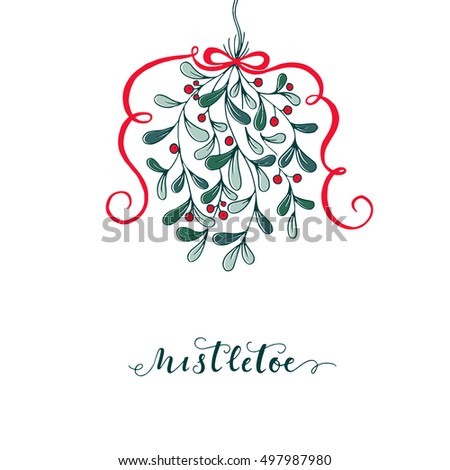 vector mistletoe vector template stock vector royalty free