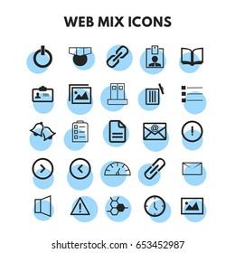 Vector Mix icons set