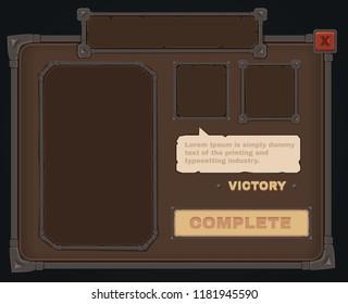 Vector mmorpg game ui