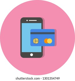 Vector Mobile banking Icon