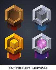 Vector mobile game rank badge