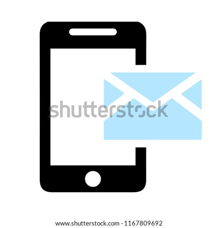 Vector Mobile Icon Text Message Sms Stock Vector (Royalty Free