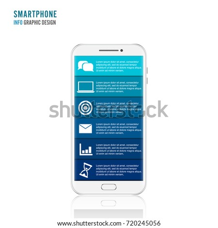 Vector Mobile Phone Infographic Template Diagram Stock Vector