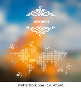 Vector mobile and web interface with insurance