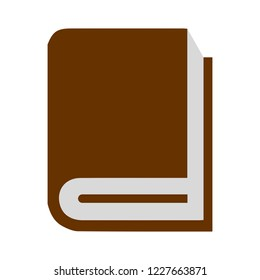 Vector mock up of book cover isolated. Closed vertical book, magazine or notebook mockup on white background. 3d illustration