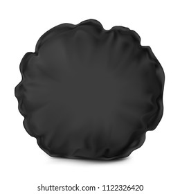 Vector. Mock Up. Black Pillow Round