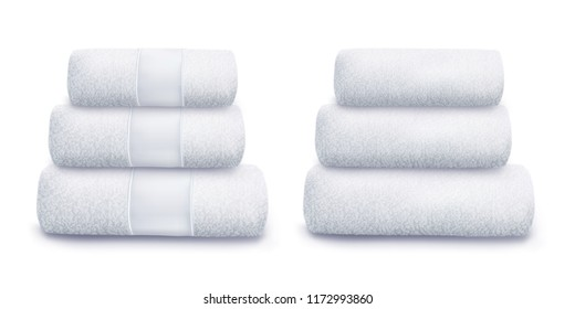 Vector. Mock Up. White Towel