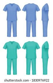 Vector mockup of medical scrubs.