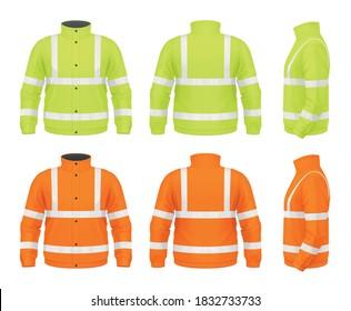 Vector mockup of safety jacket.