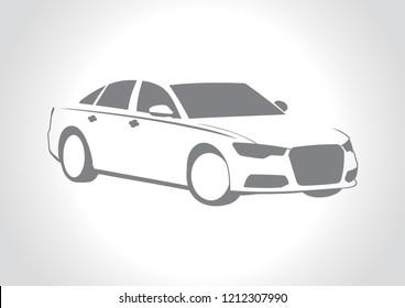vector model of car silhouette. Audi A6.