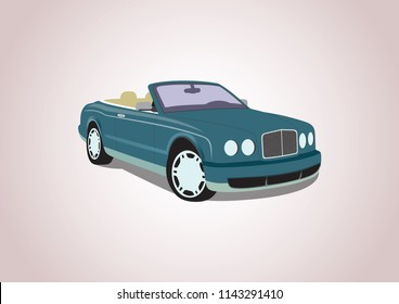 vector model of expensive car