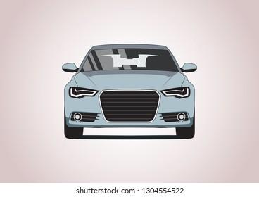 vector model of sedan car. Audi A6.