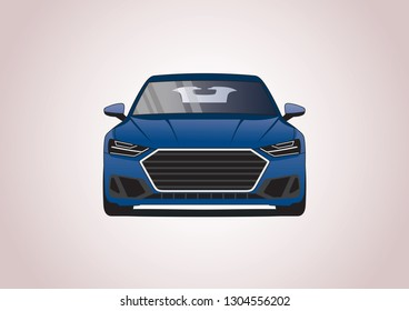 vector model of sportback car. Audi A7.