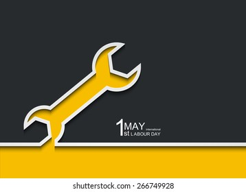 Vector modern 1 may international labour day background