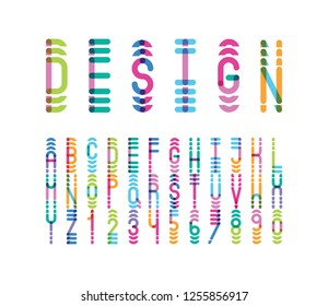 vector of modern abstract bright font and alphabet