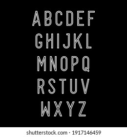 Vector of modern abstract font and alphabet. minimal modern alphabet. Typography trandy font uppercase. vector illustrator.Vector of Futuristic Alphabet Letters.