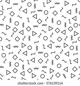 Geometría abstracta vectorial moderna memphis patrón.Color de fondo geométrico transparente . Dise?o mínimo de almohadas sutiles y sábanas. Dise?o de arte creativo. Huella de moda Hipster. Imagen del vector EPS10.